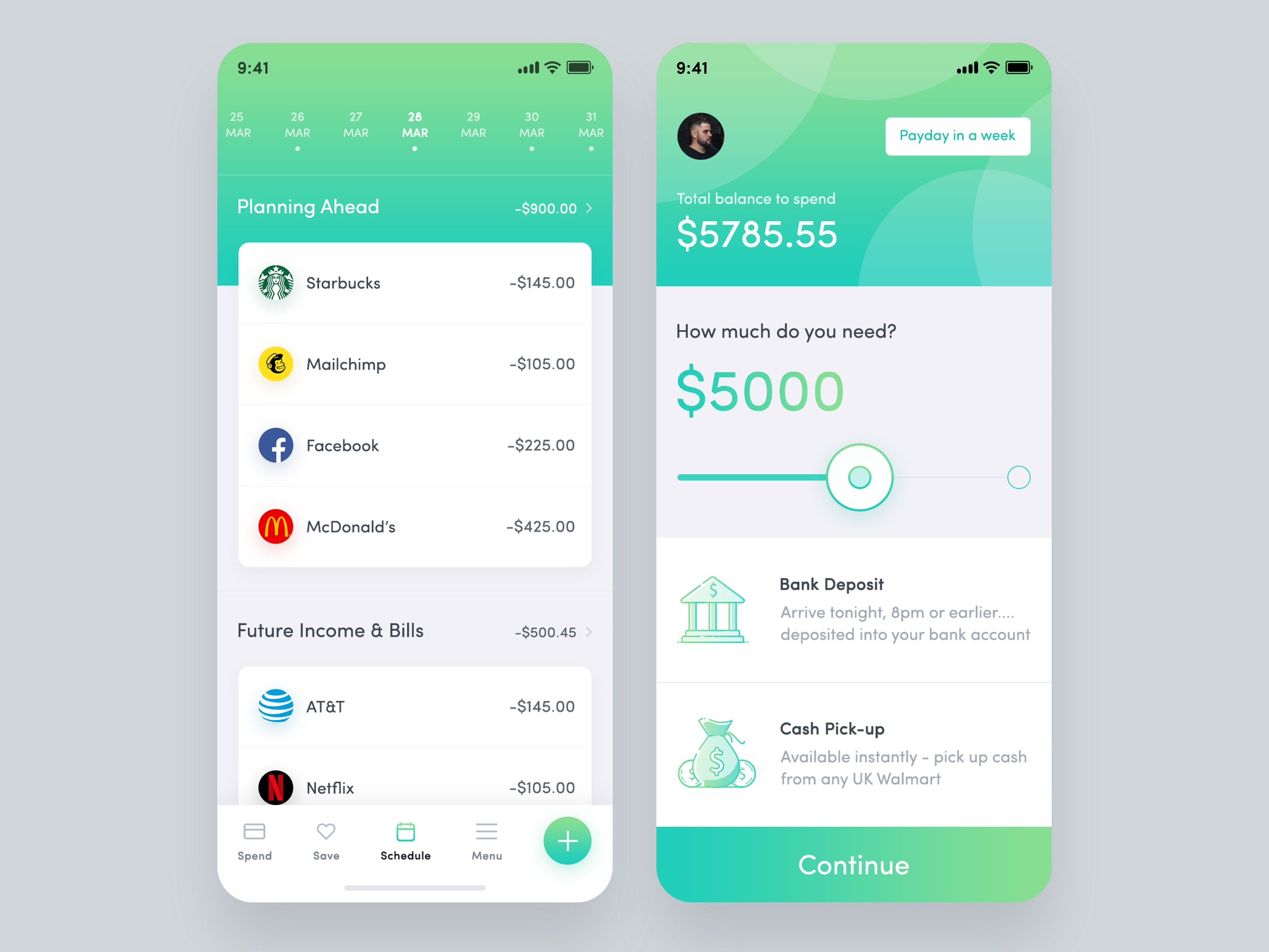 Money management application design 03