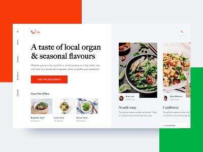 Food Order Website Design Exploration food landing page unusual  webdesign restaurant website  theme restaurant web restaurant home restaurant design restaurant website design catering-homepage