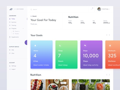 Gobeyond Fitness Web Application Design nutrition fitness app fitness sleeps fitness workouts fitness steps your personal summary proteins app personalized meal plan milestone - 30 day weight meal plan health web app meal plan desktop app macro nutrient ratios health web app  ibs  kcal healthcare app health desktop application fitness app  fitness dashboard your goal body mass index (bmi) fitness app design add a new meal plan