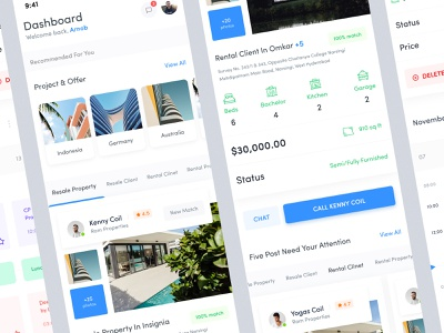 Property Application Design 2.0 rental client schedule application design travel flight app rental ui  rent hotel travel app real estate ui ux property renting ui real estate mobile app design property application design iphone x booking app ios management hotel booking app experience interaction