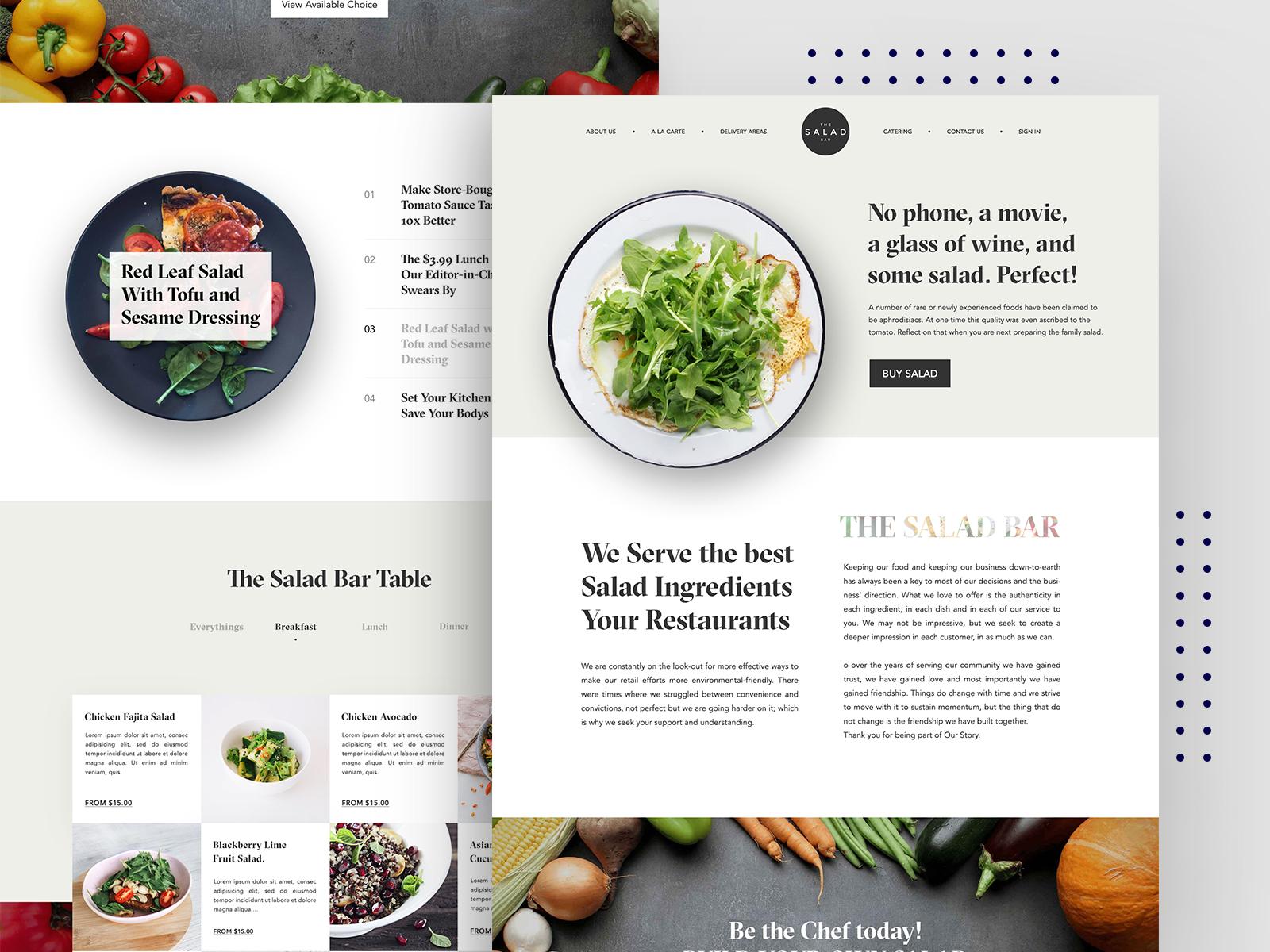 Salad bar homepage design 02