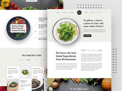 Salad Bar Homepage Design
