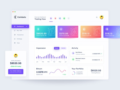 Crypto Dashboard Design