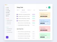 Task management dashboard design