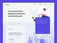 Email Client Website Design