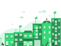 CityScape ui vector illustrator minimal illustration flat