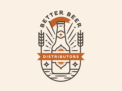 Better Beer Badges emblems brewery logo badge brand identity branding brand craft brew