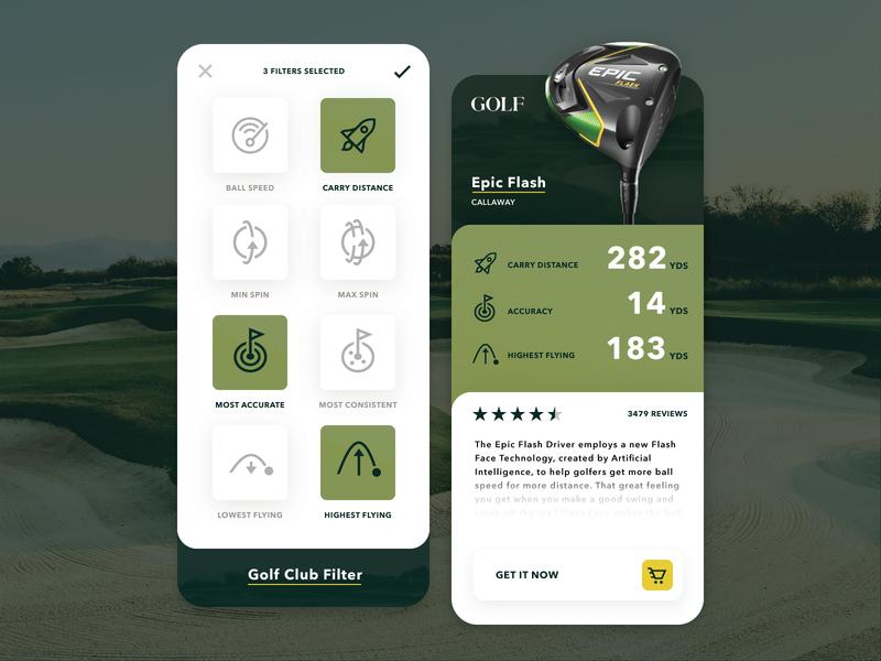 Golf Club Rankings App + Iconography