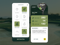 Golf Club Rankings App + Iconography icons icon designer icon design app icons filter golf club iphone app uidesign ux ui app design app screen concept app golf