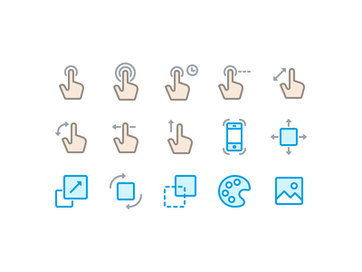 Gesture / Animation Icons icon set app icons webicons icon designer icon design icon hand suite icons iconography glyph gesture animation set phone app pixate
