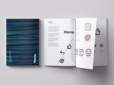 Klarna Iconography Style Guide print guidelines guidebook bank klarna brand custom icon designer study case icons set style guide style iconography icons