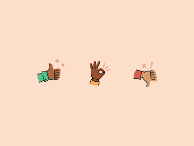 yay, nay, or just ok icon signals iconography response on point ok thumbs down thumbs up gestures hand icons