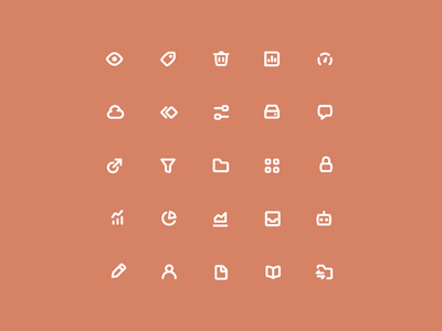 Marshmallow Dreams icon ux ui friendly fun playful rounded thick chunky line iconography icon designer icon set icons