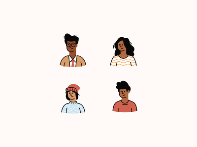 Character Exploration — Intuit humans study exploration inclusion diversity illustrations turbotax intuit avatars characters people icons