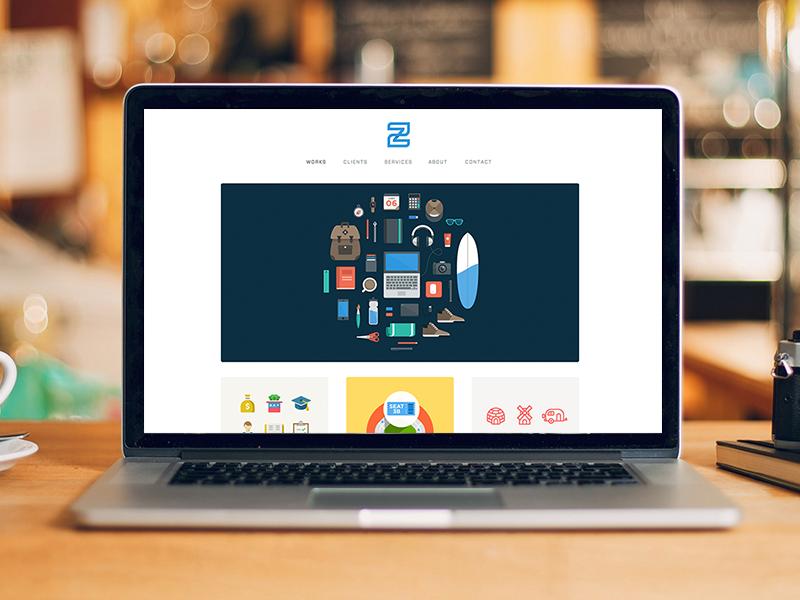 Personal Site responsive designer personal website illustration portfolio retina freelance icons iconography