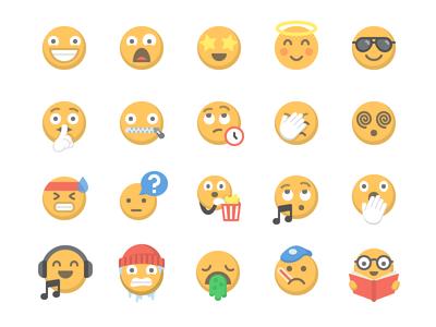 Moji - Emotions emoji moji emotion expression icon set app website faces