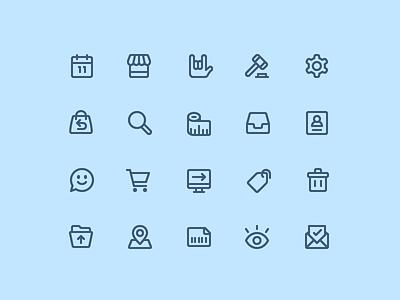 Icon Suite | Enjoei iconography icons set suite line icon consistent