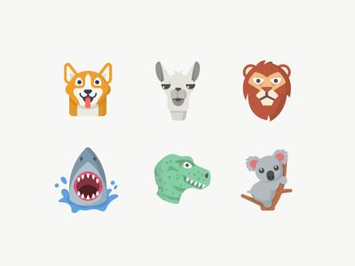 Animal Emojis icon designer flat icons icon design emoji icons shadow flat illustration design icon animal emoji