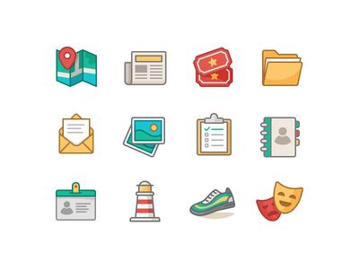 Involvio Icon Suite involvio college design school icon set iconography