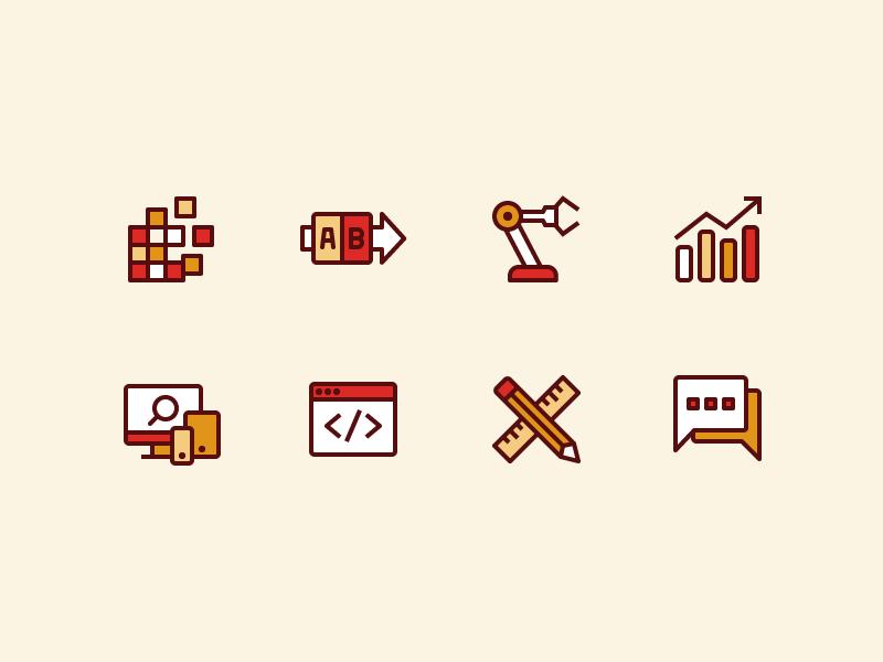 Capabilities Iconography set icon design iconography icons