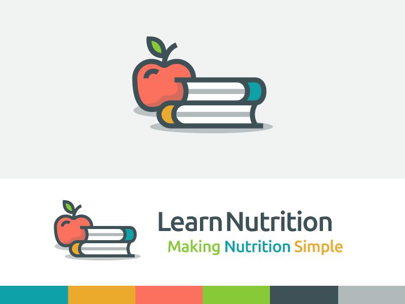 LearnNutrition Branding logo branding book apple nutrition learn