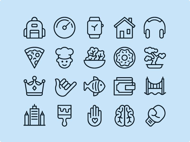 Ios Edge Line - 1200 icons