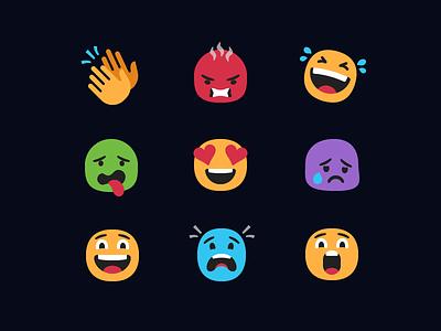 Hero.tv Reaction Emoji set reaction emoticon emotion illustration icons emoji