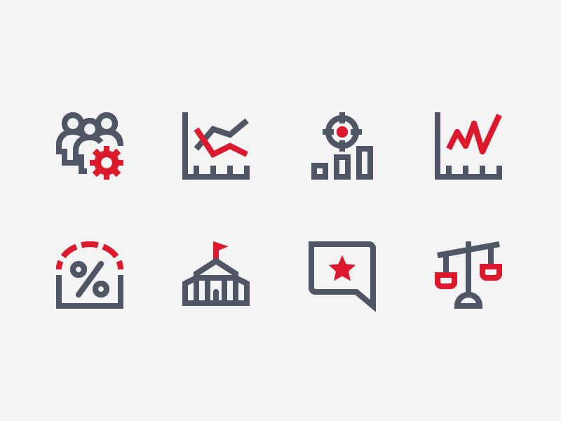 Duotone Analytics color duotone line iconography icon set icons