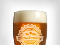 Glass etching pint