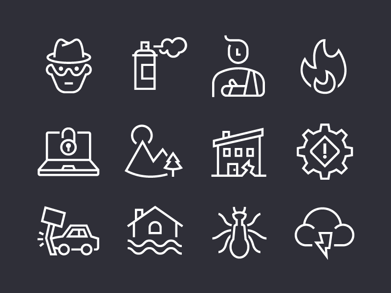 The Atlantic | Iconography icon icon set line iconography icons