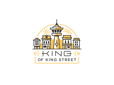 King of King Street branding badge logo cn tower toronto