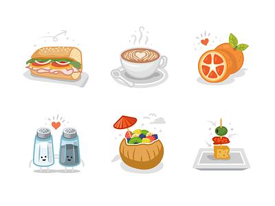Publix Illustration Series flat series illustration saltandpepper coffee sandwhich groceries supermarket publix deli food