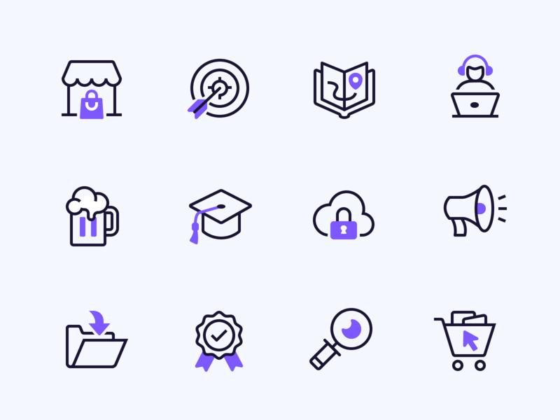 Mesosphere Duotone Icons | Full Icon Set duotone iconography icon line icons