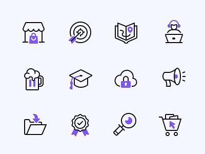 Mesosphere Duotone Icons   Full Icon Set duotone iconography icon line icons