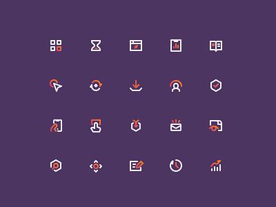 Heap Iconography app icons ui icons icon designer icon design app web ui analytics duotone line icons set icon iconography icons