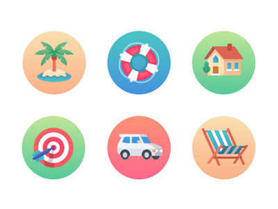 Telescope App Icons gradient color vacation retirement savings iconography icons set icons app telescope