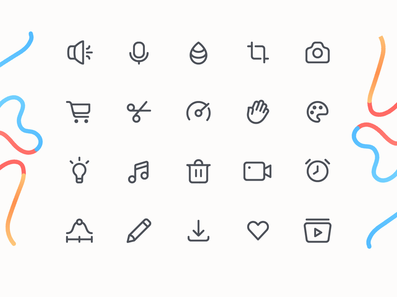 Jumprope App Iconography ui icons web icons icon designer icon design app icons icon set line iconset iconography icons app jumprope