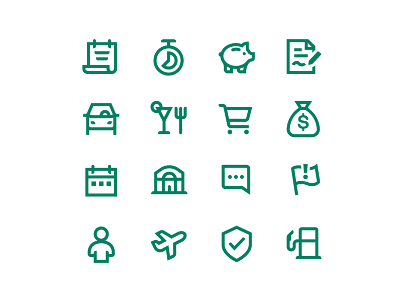 Credit Karma | App Icons ui app bank car dining savings categories icon set iconography icons line