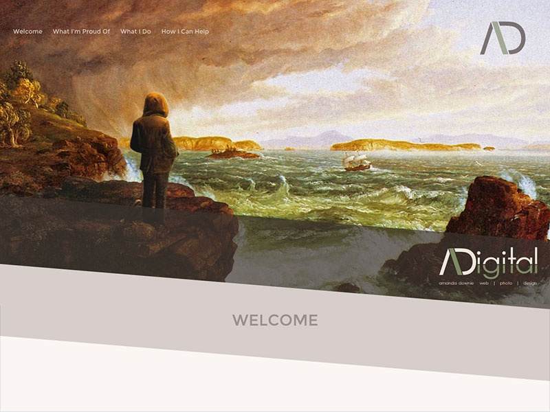 Downie Digital Redesign web design website portfolio responsive