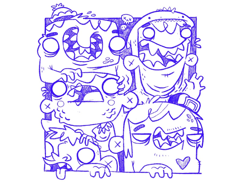 Monster Kids - Sketch WIP