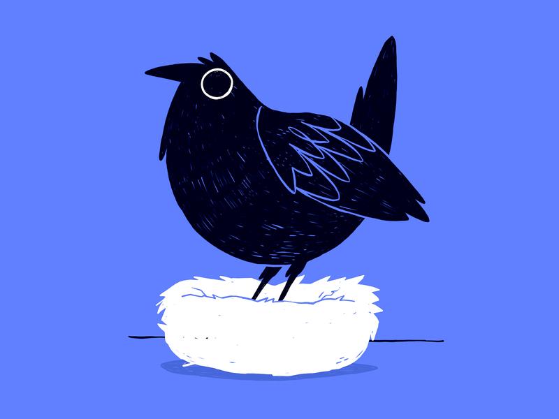 Scribble Fill Bird Silhouette
