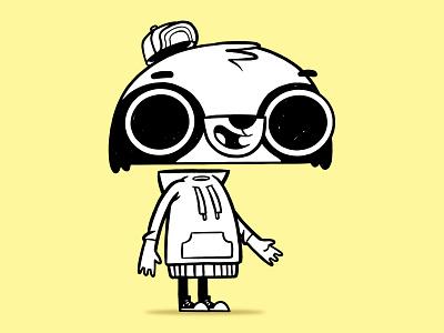 Ruckus Raccoon Character Rig animal animal art sweater concept art video game design videogame rigging eyesight raccoon 90s 80s hipster cartoon retro character design blake stevenson jetpacks and rollerskates illustration