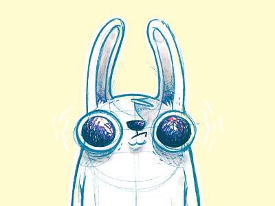 Gorilla Bunny cute animal rabbit logo ears eyes sketch concept art wip animal gorilla rabbit bunny hipster cartoon retro cute character design blake stevenson jetpacks and rollerskates illustration