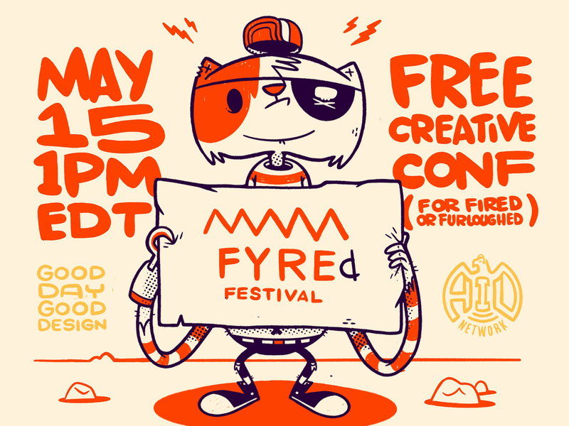 May 15 (Today) - FYREd FESTIVAL may rocks shoes patch hat hook pirate cat gig poster conference 80s skull hipster cartoon retro cute character design blake stevenson jetpacks and rollerskates illustration