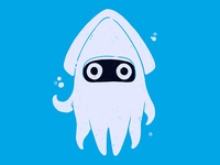 Mario Bros Blooper super nintendo super mario water 90s video game nerd pop culture nintendo mario bros mario squid cartoon hipster 80s retro cute character design blake stevenson jetpacks and rollerskates illustration