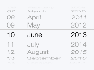 iOS 7 Date Picker Vector Resource (Download) wireframe mockup ui ux resource download date picker ios 7 eps ai vector free