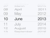 iOS 7 Date Picker Vector Resource (Download)