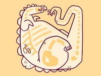 Dinosaur Bones 01 dino skulls adobe fossil dinosaur stegosaurus skeleton bones skull hipster cartoon retro cute character design blake stevenson jetpacks and rollerskates illustration