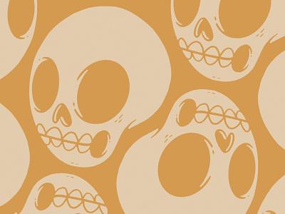 Skull pattern skull and crossbones creepy pattern design teeth vector simple clean skeleton bones ux logo ui pattern skull retro cute character design blake stevenson jetpacks and rollerskates illustration