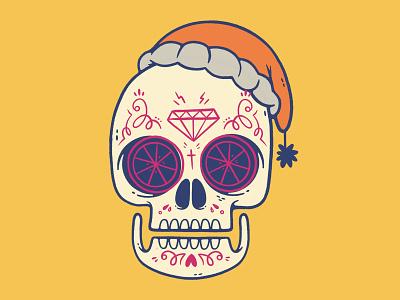 Unused Sugar Skull Design day of the dead diamond christmas skeleton sugar skull mexican skull hipster cartoon retro cute character design blake stevenson jetpacks and rollerskates illustration